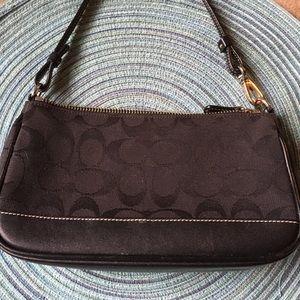 COACH Original Black Signature Mini Clutch Handbag